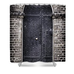 Tower Door Shower Curtain by Heather Applegate