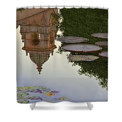 Shower Curtain featuring the photograph Tower In Lotus Position by Gary Holmes