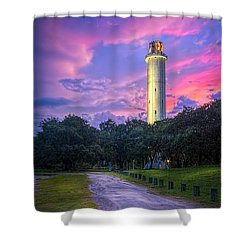 Tower In Sulfur Springs Shower Curtain by Marvin Spates