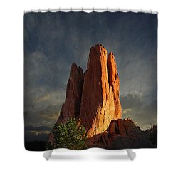 Tower Of Babel At Sunset Shower Curtain