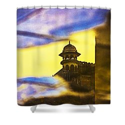 Tower Reflection Shower Curtain