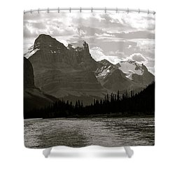 Towering Peaks Shower Curtain