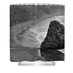 Towering Rock Shower Curtain by Kirt Tisdale