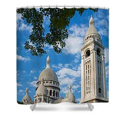 Towering Sacre-coeur Shower Curtain by Inge Johnsson