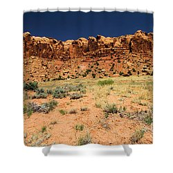 Towers To The Needles Shower Curtain by Adam Jewell