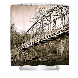 Town Bridge Collinsville Connecticut Shower Curtain