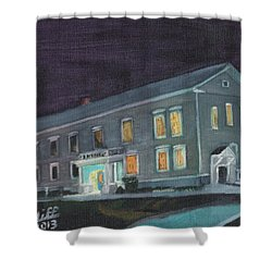 Town Hall At Night Shower Curtain
