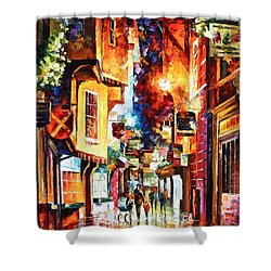 Town In England Shower Curtain by Leonid Afremov