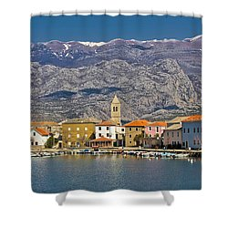 Town Of Vinjerac Waterfrot View Shower Curtain