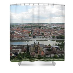 Town Of Wurzburg Shower Curtain by Pema Hou