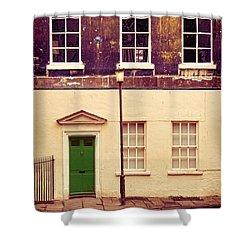 Townhouse Shower Curtain by Jill Battaglia