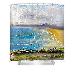 Towradgi Beach Shower Curtain by Pamela  Meredith