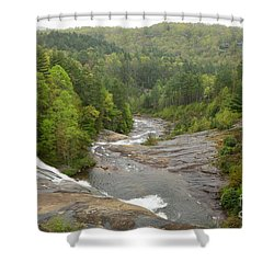 Toxaway Waterfalls Shower Curtain by Bob Sample