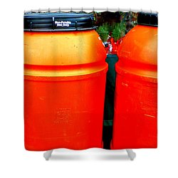 Toxic Waste Shower Curtain by Renee Trenholm