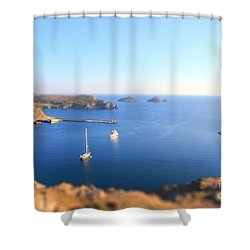 Toy Boats Shower Curtain by Vicki Spindler
