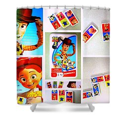 Toy Story Dominoes Shower Curtain
