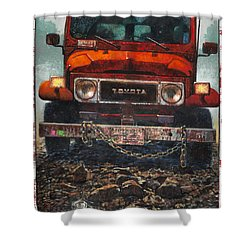 Toyota Shower Curtain by Blue Sky