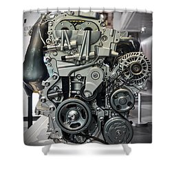 Toyota Engine Shower Curtain