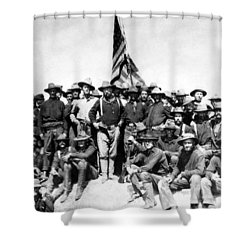 Tr And The Rough Riders Shower Curtain by War Is Hell Store