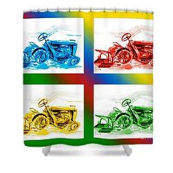 Tractor Mania II Shower Curtain by Kip DeVore