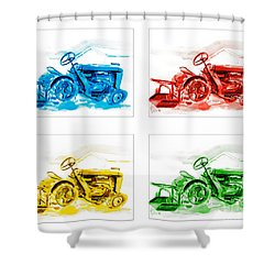 Tractor Mania  Shower Curtain by Kip DeVore