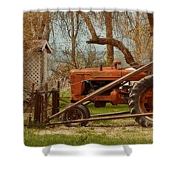 Tractor On Us 285 Shower Curtain