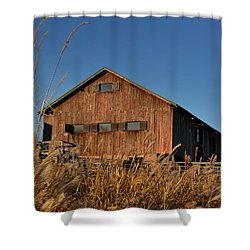 Traders Point Barn Shower Curtain