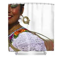 Traditional Ethnic Dancers In Chiapas Mexico Shower Curtain by David Smith