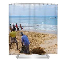 Hoisting The Nets Shower Curtain