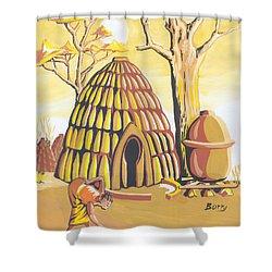 Traditional House Massa Northern Cameroon Shower Curtain by Emmanuel Baliyanga