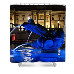 Trafalgar Square At Night Shower Curtain