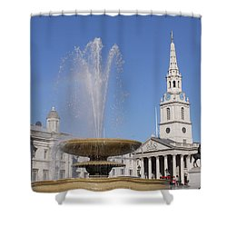 Trafalgar Square Fountain. Shower Curtain