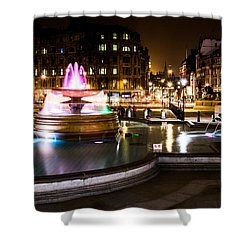 Shower Curtain featuring the photograph Trafalgar Square by Matt Malloy