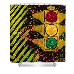 Traffic Jam Cropped Shower Curtain
