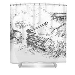 Trail Divides Shower Curtain