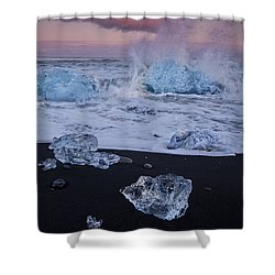 Trail Of Diamonds Shower Curtain by Evelina Kremsdorf