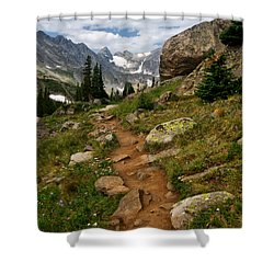 Trail To Lake Isabelle Shower Curtain by Ronda Kimbrow