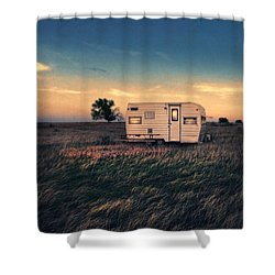 Trailer At Dusk Shower Curtain