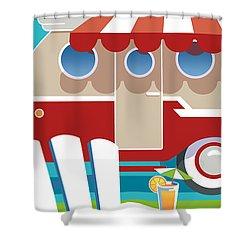 Trailer Park Shower Curtain