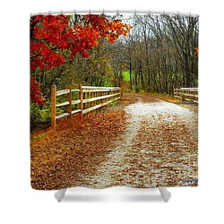 Trailing In Autumn Shower Curtain