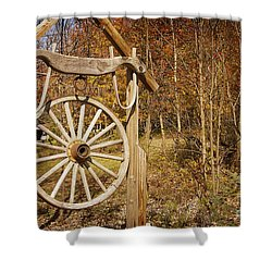 Trail's End Shower Curtain by A New Focus Photography