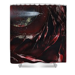 Shower Curtain featuring the painting Trails End by Jason Girard