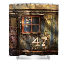 Train - A Door With Character Shower Curtain by Mike Savad