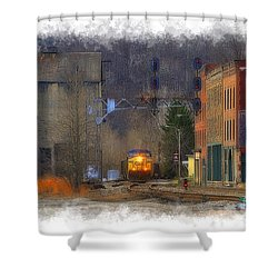 Train At Thurmond Wv Shower Curtain by Dan Friend