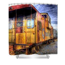 Train Caboose Shower Curtain by Jonny D