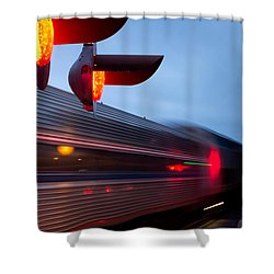Train Crossing Road Shower Curtain