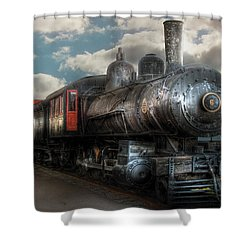 Train - Engine - 6 Nw Class G Steam Locomotive 4-6-0  Shower Curtain by Mike Savad