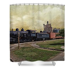 Train - Engine Shower Curtain by Liane Wright