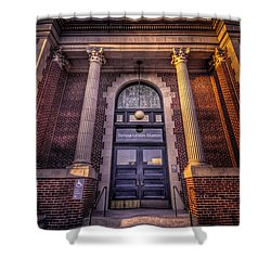 Train Gateway Shower Curtain by Marvin Spates