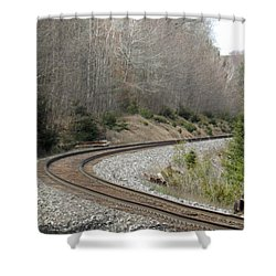 Train It Coming Around The Bend Shower Curtain
